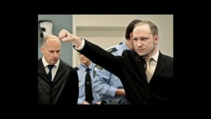 "Breivik's former salute: a combination of ""black power"" and Marxism."