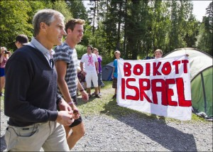 Breivik's victims at a Norwegian youth camp supported the boycott of Israeli produce as part of their campaign for Palestinian rights.